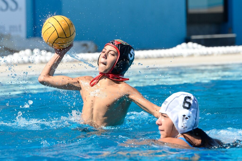 Children playing waterpolo at tal-Qroqq Sports Complex